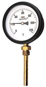 Termometre alttan girişli