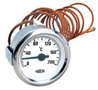 Pakkens Termometre Sıvı Dolgulu Pano Tipi Bakır Kapiler